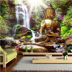 Fotomural Cascada con Buda