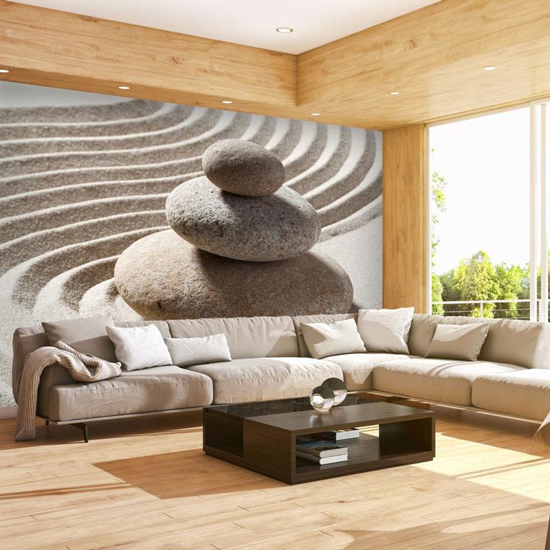 Fotomurales piedra zen relajaci n for Murales pared baratos