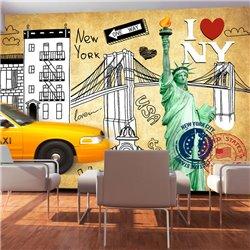 Fotomural Emblemas De Nueva York