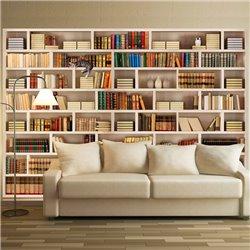 Fotomural Librería Blanca