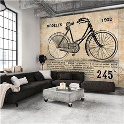 Fotomural Bicicleta Escolar Antigua