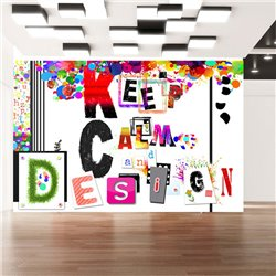 Fotomural Keep Calm And Design