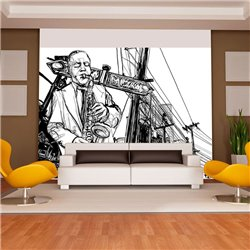 Fotomural Saxofon En Broadway
