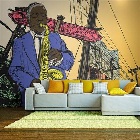 Fotomural Saxofonistas En Nueva York