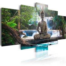 Cuadro Buda y cascada