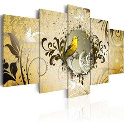 Cuadro Canto del pájaro amarillo