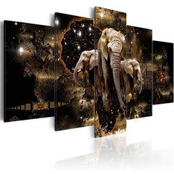 Cuadro Elefantes marrones