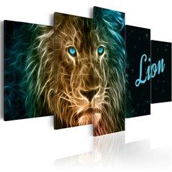 Cuadro Gold lion