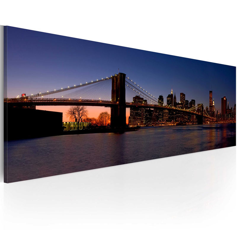 Cuadro Puente do Brooklyn - panorama