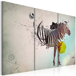 Cuadro cebra - abstracto