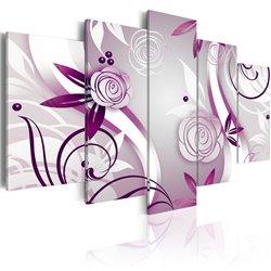 Cuadro Rosas violetas