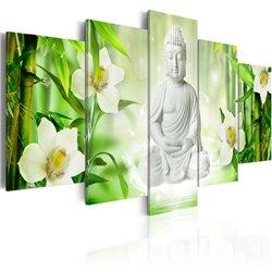 Cuadro Buda y jazmín