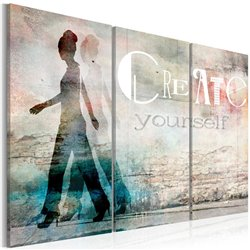 Cuadro Create yourself - triptych