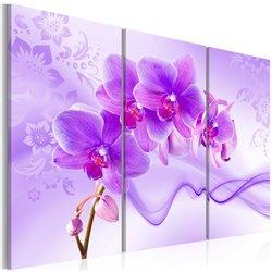 Cuadro Orquídea sutil - violeta