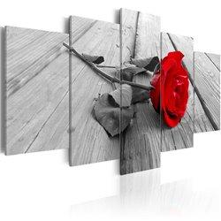 Cuadro Rosa en la madera
