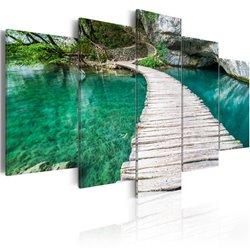 Cuadro Lago turquesa