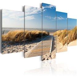 Cuadro Playa salvaje - 5 piezas