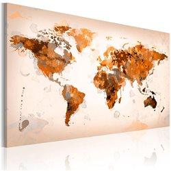 Cuadro Map of the World - Desert storm