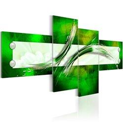 Cuadro verde motivo abstracto
