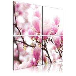 Cuadro Árbol de magnolia floreciente