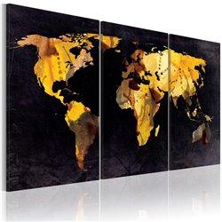 Cuadro El mapa del mundo - arenas movedizas