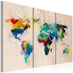 Cuadro El mundo de los colores - tríptico