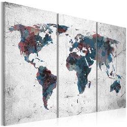 Cuadro Continentes indescubiertos- Tríptico