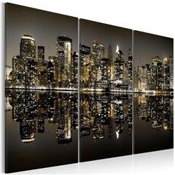 Cuadro Nueva York de color oro