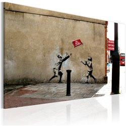 Cuadro Prohibido jugar al fútbol (Banksy)