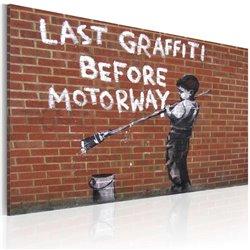 Cuadro El último graffiti antes de la carretera (Banksy)