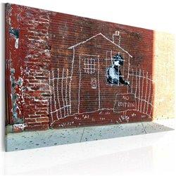 Cuadro Aterrizado (Banksy)