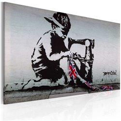 Cuadro Union Jack Kid (Banksy)