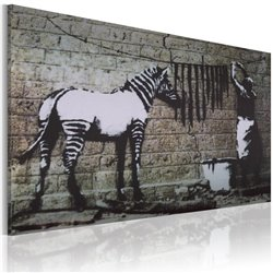 Cuadro Zebra lavandose (Banksy)
