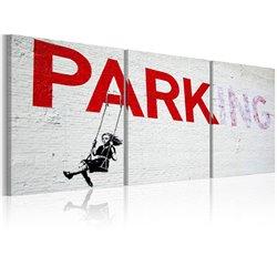Cuadro Niña en un columpio (Banksy)