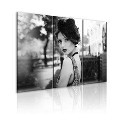 Cuadro Una mujer elegante en estilo vintage