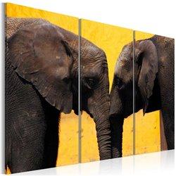 Cuadro Beso de elefantes