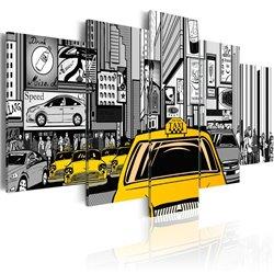 Cuadro Taxi de tebeos