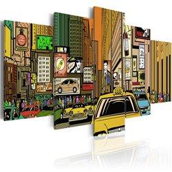 Cuadro Las calles de Nueva York en tebeos