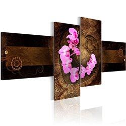 Cuadro Orquídea y madera