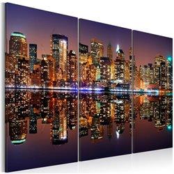 Cuadro Nueva york reflejada en agua