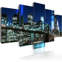 Cuadro Nueva York en color azul