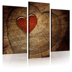 Cuadro Viejo amor no se oxida - tríptico