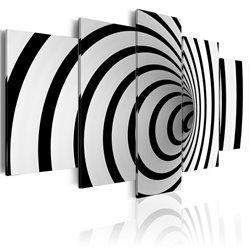 Cuadro Un agujero blanco y negro