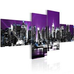 Cuadro Nueva York sobre fondo violeta