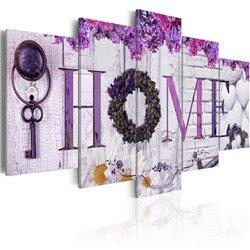 Cuadro Purple House