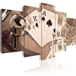 Cuadro Noche de póker - sepia