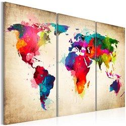 Cuadro Continentes del arco iris