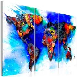 Cuadro Mapa del arco iris
