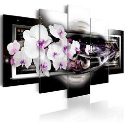Cuadro Orquídeas en el fondo negro