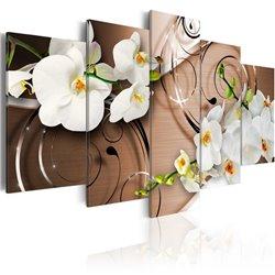 Cuadro Orquídeas en marfil